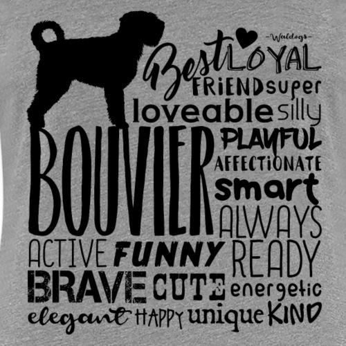 Bouvier Words Black