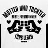 Kinder Bio-T-Shirt - Liebevolles Design mit 2 Fäusten, Herzen, Sternen und dem Schriftzug: Mutter und Tochter beste Freundinnen fürs Leben Genau das richtige um zu zeigen dass Mutter und Tochter zusammen gehören!