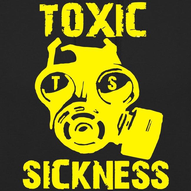 Unisex Toxic Sickness Hoodie With Yellow Logo