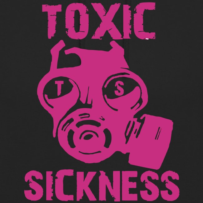 Unisex Toxic Sickness Hoodie With Pink Logo