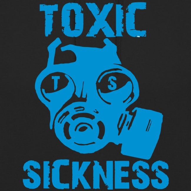 Unisex Toxic Sickness Hoodie With Blue Logo