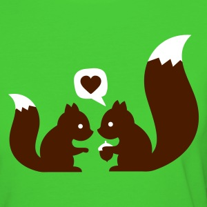 Hellgrün squirrels in love - to give each other Bioprodukte - Frauen Bio-T-Shirt