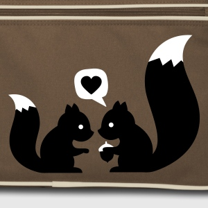 Brown / sand squirrels in love - to give each other Bags  - Retro Bag