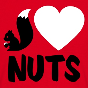 Red i love nuts - squirrel Men's T-Shirts - Men's T-Shirt
