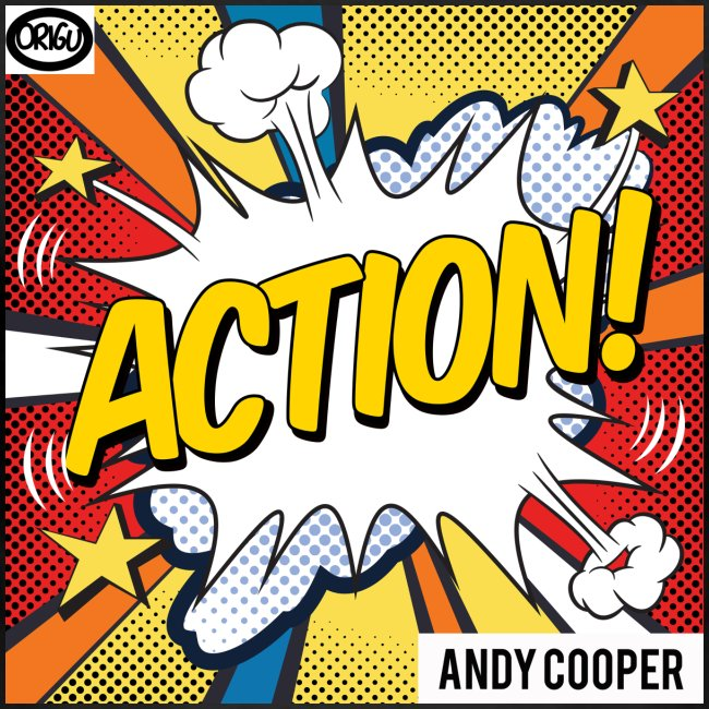 "Origu T-Shirt Andy Cooper ""Action"" - black"