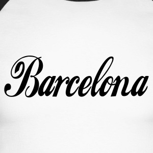 Blanc/noir barcelone - barcelona T-shirts manches longues - T-shirt baseball manches longues Homme