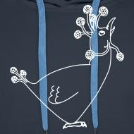 Design ~ Unisex fun Hen Motif Hoodie Sweatshirt