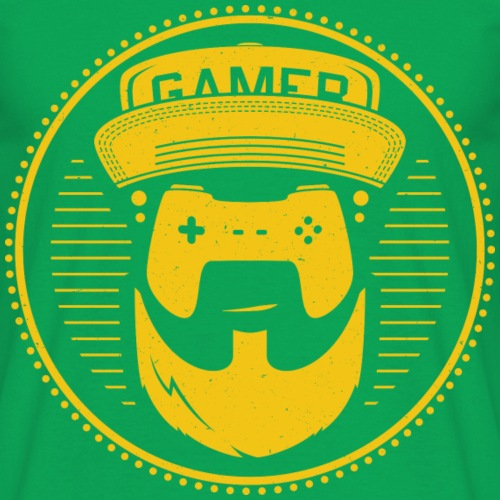 T-Shirt-Design-gamer-gelb