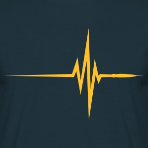 Navy Pulse Beat EKG (1c, NEU) T-shirts - Mannen T-shirt