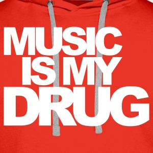 Red Music Is My Drug V1 Jumpers - Men's Premium Hoodie