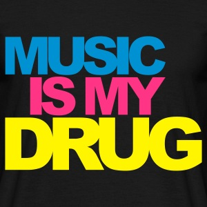 Negro Music Is My Drug V2 Camisetas - Camiseta hombre