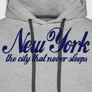 Grigio melange new york the city that never sleeps Pullover - Felpa con cappuccio premium da uomo