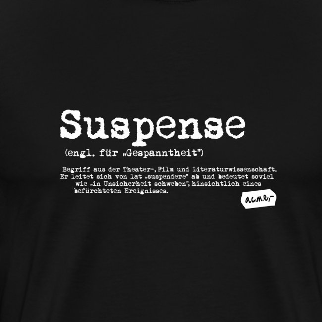suspense shirt