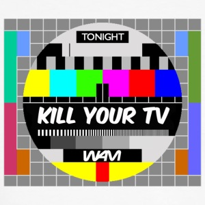 Vit/marinblå kill your tv by wam T-shirts - Kontrast-T-shirt herr