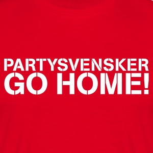 Partysvensker, go home! - T-skjorte for menn