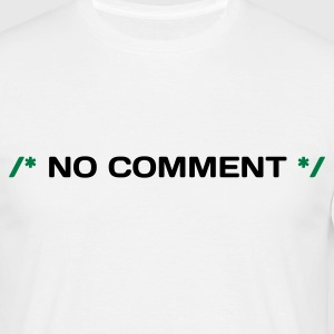 Wit Coder No Comment (2c, NEU) T-shirts - Mannen T-shirt