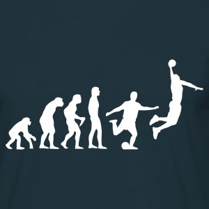 Navy Basketball Evolution T-Shirts - Men's T-Shirt