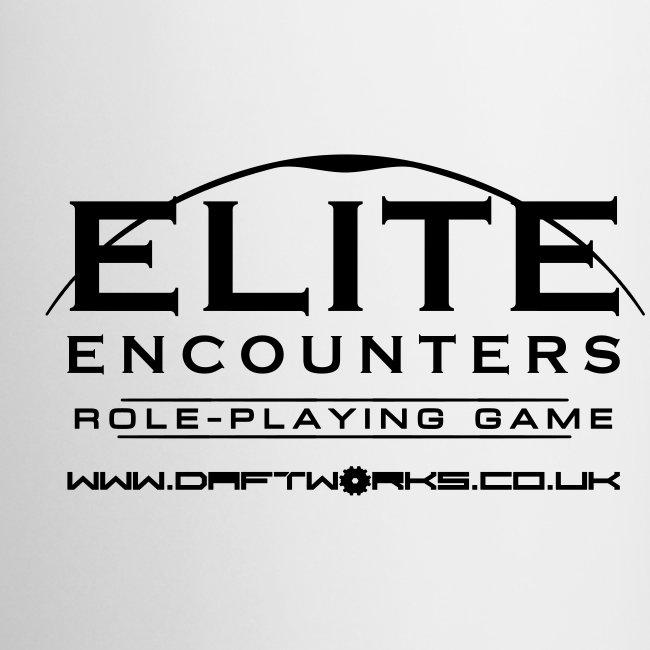 Elite Encounters Logo Monochrome Mug