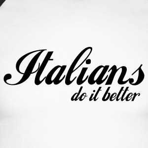 Blanc/noir italians do it better T-shirts manches longues - T-shirt baseball manches longues Homme