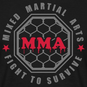 Schwarz MMA - Mixed Martial Arts - Fight to survive T-Shirts - Männer T-Shirt