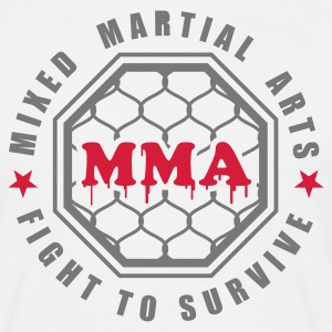 Weiß MMA - Mixed Martial Arts - Fight to survive T-Shirts - Männer T-Shirt