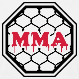 Weiß MMA - Mixed Martial Arts - Octagon T-Shirts - Männer T-Shirt