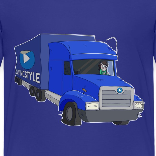 Vincent in vrachtwagen - Shirt (KIDS 2 T/M 8 JAAR)