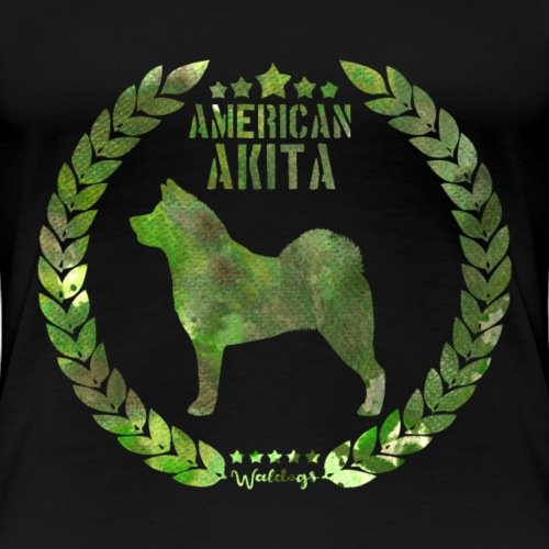 American Akita Army Green