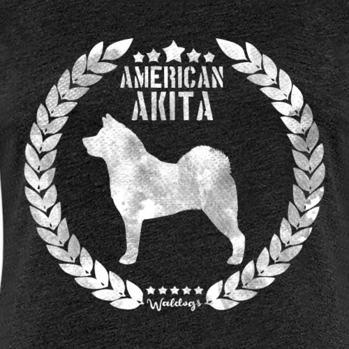 American Akita Army White