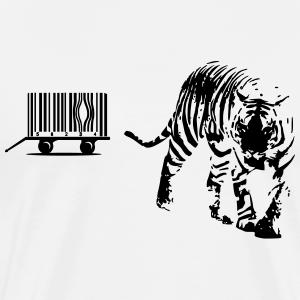 Tigerkäfig als Barcode