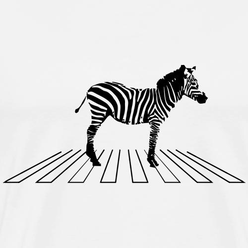 Zebra auf Zebrastreifen