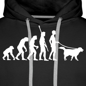 evolution_dog Hoodies & Sweatshirts - Men's Premium Hoodie