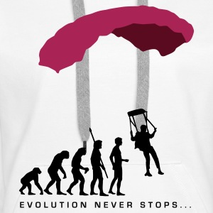 evolution_fallschirm_b Sweat-shirts - Sweat-shirt à capuche Premium pour femmes