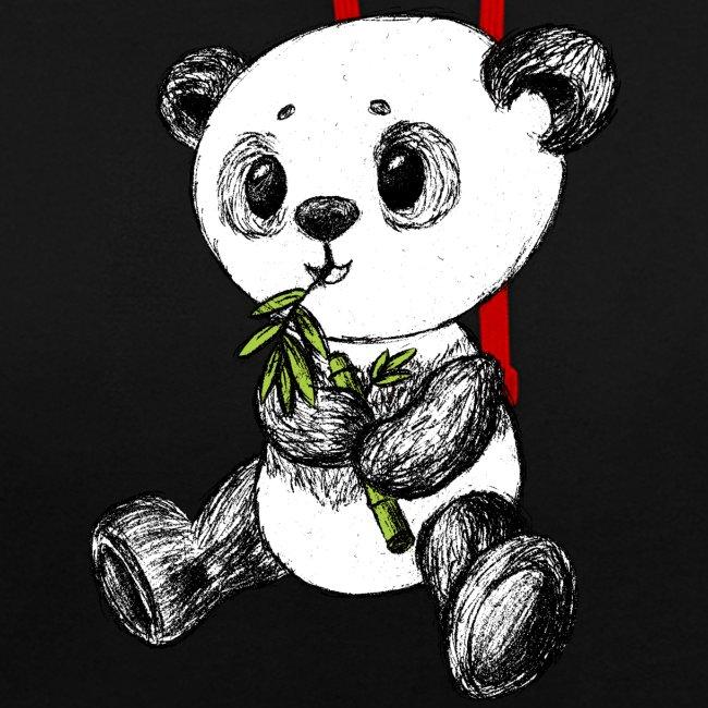 Panda Bär scribblesirii farbig