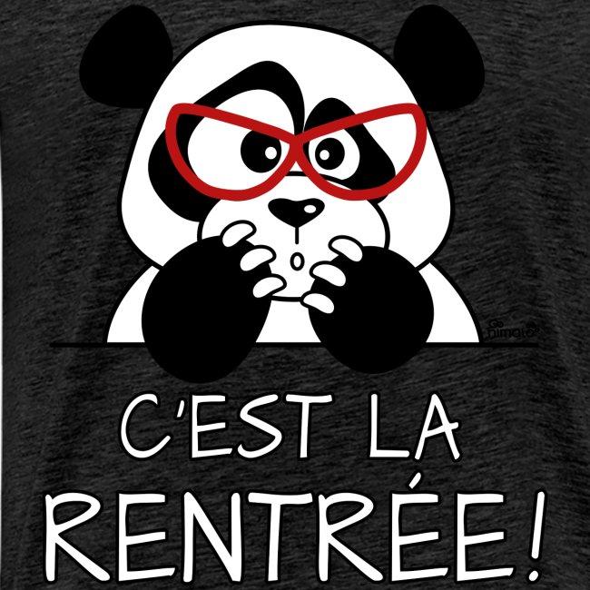T-shirt P Homme Panda désespéré, C'est la Rentrée!