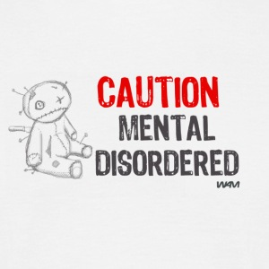 Blanco mental disordered by wam Camisetas - Camiseta hombre