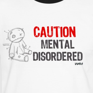 Blanca/negro mental disordered by wam Camisetas - Camiseta contraste hombre