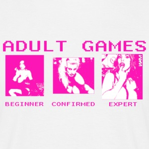 Blanco adult games by wam Camisetas - Camiseta hombre