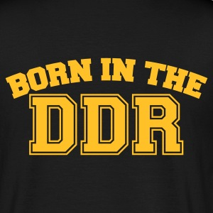 Schwarz Born in the DDR T-Shirts - Männer T-Shirt