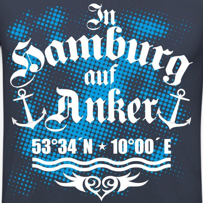 In HAMBURG auf Anker Koordinaten Männer T-Shirt