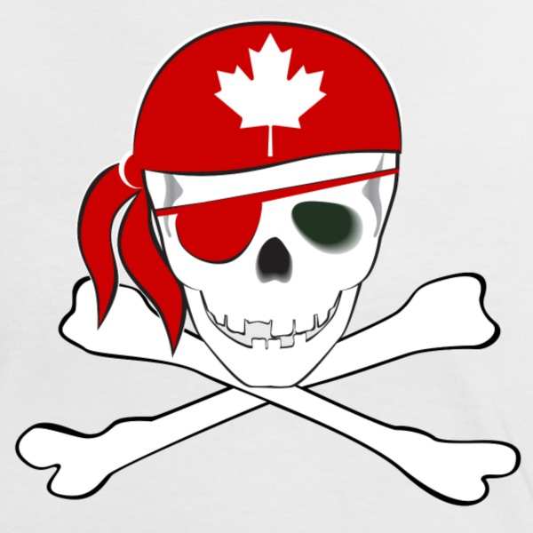 Canadian Pirate - Women's Ringer T-Shirt