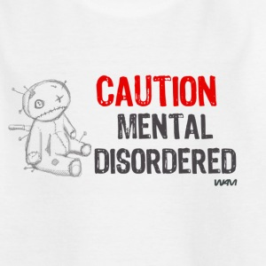 Vit mental disordered by wam Barn-T-shirts - T-shirt tonåring