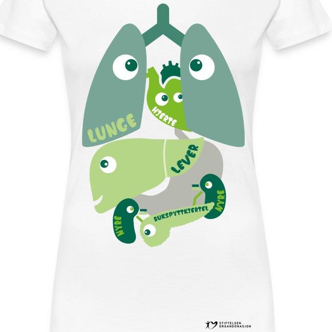"""""""Organene"""" t-skjorte – dame"""