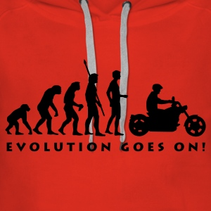evolution_biker_b Sweat-shirts - Sweat-shirt à capuche Premium pour femmes