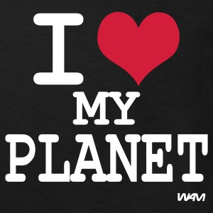 Noir i love my planet by wam T-shirts Enfants - T-shirt Bio Enfant