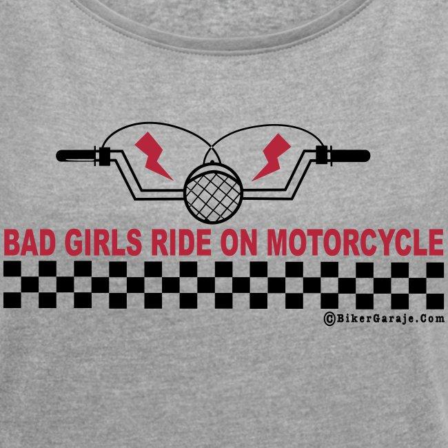Camiseta mod. Boyfriend Bad Girl Motorcycles