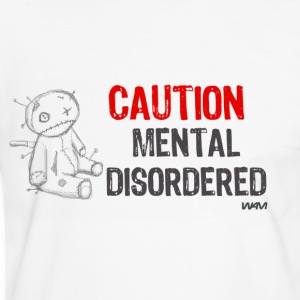 Hvid/sort mental disordered by wam T-shirts - Herre kontrast-T-shirt
