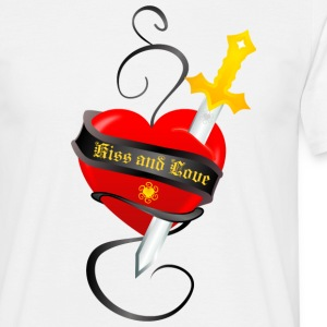 Blanc angel_heart2 T-shirts - T-shirt Homme