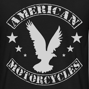 Noir american motorcycles T-shirts - T-shirt Homme