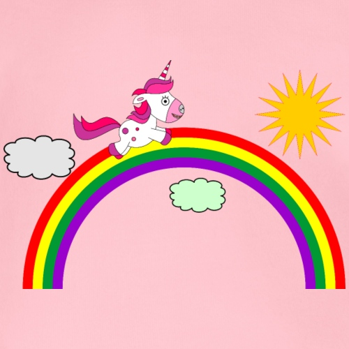 Einhorn auf dem Regenbogen